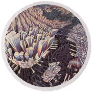 Manhattan Round Beach Towel by Charlotte Johnson Wahl