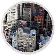 Manhattan From Above Round Beach Towel