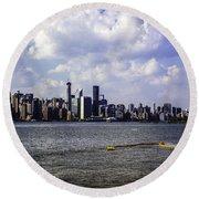 Manhattan On My Mind Round Beach Towel