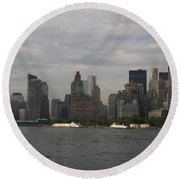 Manhattan Skyline 2010 Round Beach Towel