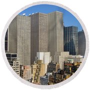 Manhattan Urban Jungle Round Beach Towel