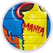 Mania Round Beach Towel