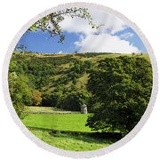 Manifold Valley And Dovecote - Swainsley Round Beach Towel