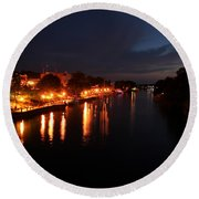 Manistee River Channel Round Beach Towel
