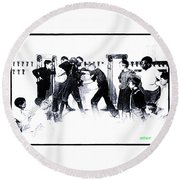 Manly Art Of Boxing Round Beach Towel
