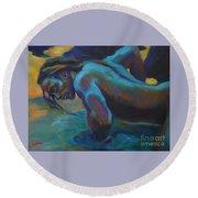 Manly Merman Round Beach Towel
