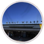 Manly Wharf Round Beach Towel