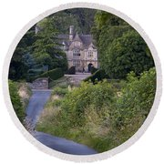 Manor House - Cotswolds Round Beach Towel
