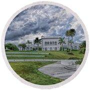 Mansion At Tuckahoe In Jensen Beach Florida Round Beach Towel