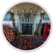 Mansion Sitting Room Round Beach Towel by Adrian Evans