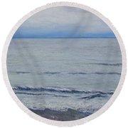Manx Mist Round Beach Towel