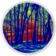 Many Trees II Round Beach Towel