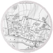 Map: London, 13th Century Round Beach Towel