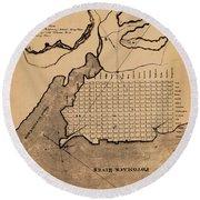 Map Of Alexandria 1798 Round Beach Towel
