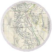 Map Of Ancient Egypt Round Beach Towel