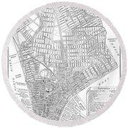 Map Of New York City, 1803 Round Beach Towel