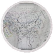 Map Of The Mongol Empire In Asia And Europe Round Beach Towel