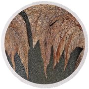 Maple Leaf Unleashed Round Beach Towel