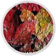 Maple Leaves Cracked Square Round Beach Towel