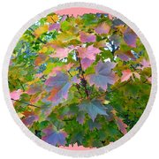 Maple Magnetism Painting Round Beach Towel