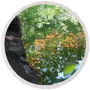 Maple Reflections Round Beach Towel