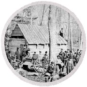 Maple Sugar Party, C1900 Round Beach Towel