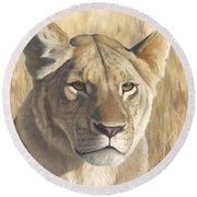 Mara Lioness Round Beach Towel