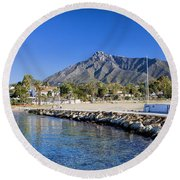 Marbella Holiday Resort In Spain Round Beach Towel