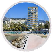 Marbella Resort In Spain Round Beach Towel