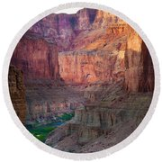 Marble Cliffs Round Beach Towel by Inge Johnsson