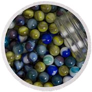 Marble Collection Jar 1 A Round Beach Towel