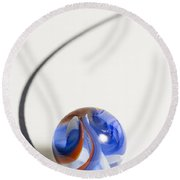 Marble Cracker Jack Curve 1 Round Beach Towel