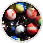 Marble King Marbles 1 Round Beach Towel
