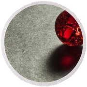 Marble Red Crackle 1 Round Beach Towel