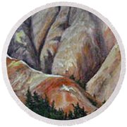 Marble Ridge Round Beach Towel