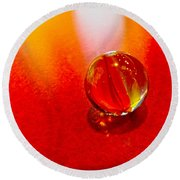 Marble Shine Round Beach Towel by Debbie Portwood