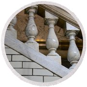 Marble Staircase Round Beach Towel