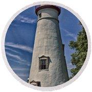 Marblehead Lighthouse Lake Erie Round Beach Towel