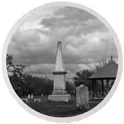 Marblehead Old Burial Hill Cemetery Round Beach Towel