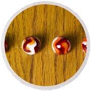 Marbles Red Orange Swirl 1 Round Beach Towel