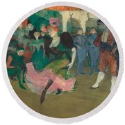 Marcelle Lender Dancing The Bolero In Chilperic Round Beach Towel