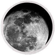 March Full Moon Round Beach Towel
