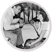 Marciano In A Movie Jail Set Round Beach Towel by Underwood Archives
