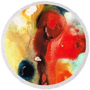 Mardi Gras - Colorful Abstract Art By Sharon Cummings Round Beach Towel