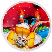 Mardi Gras Float Round Beach Towel