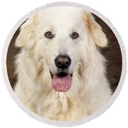 Maremma Sheepdog Round Beach Towel