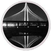Margaret Hunt Hill Bridge Reflection Round Beach Towel