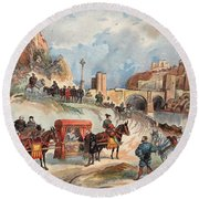 Margaret Of France Visiting Round Beach Towel