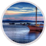 Margaret Todd At Sunrise Round Beach Towel