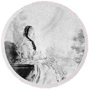 Marie De Vichy-chamrond (1679-1780) Round Beach Towel
